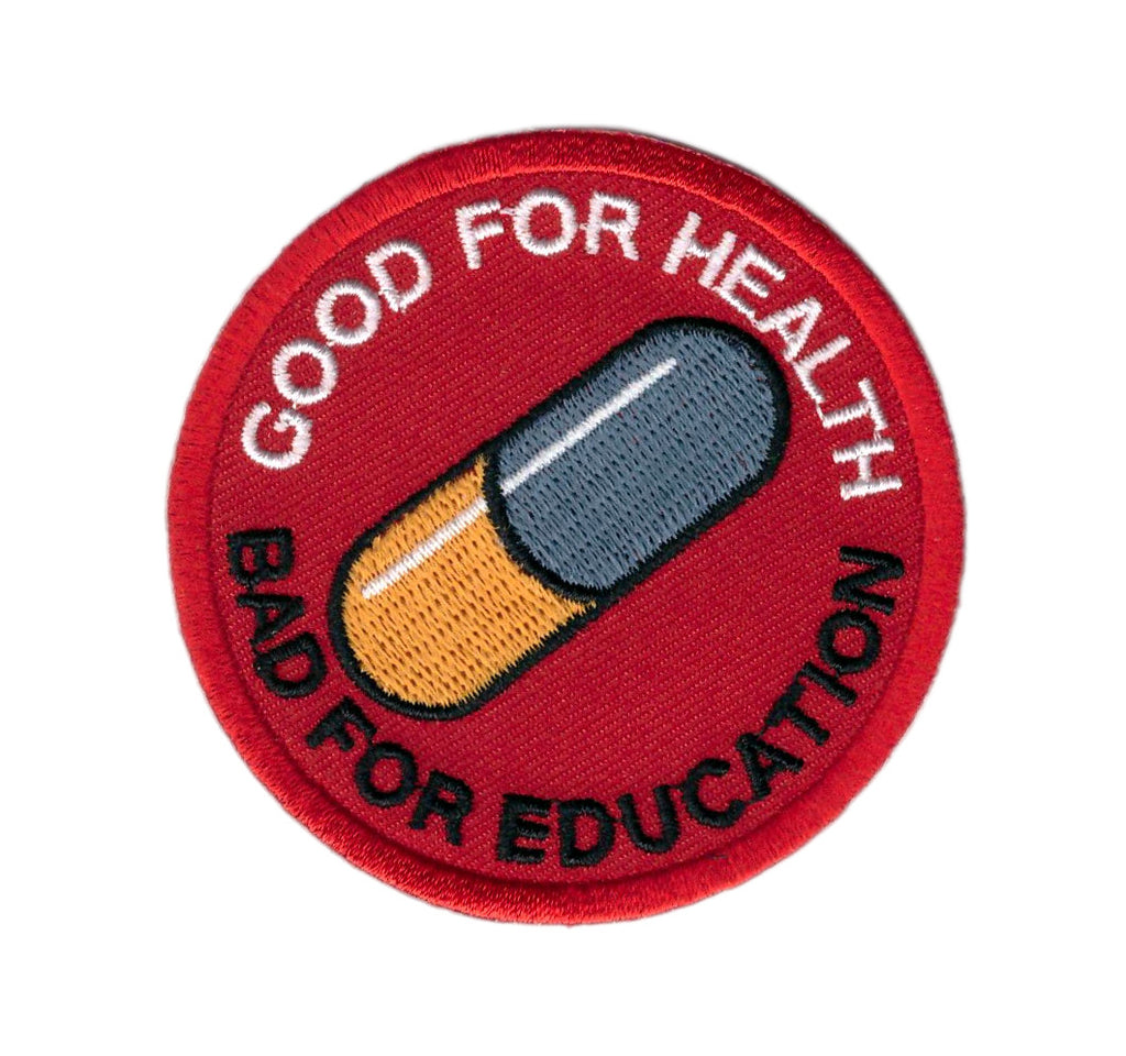 Akira Good for Health Bad for Education Japanese Anime Emo Punk Patch - Titan One