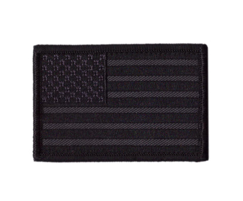 Black Out USA Flag Tactical Patch