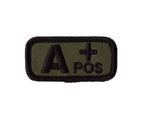 CAMO Blood type A + positive Badge Tactical US Army Patch