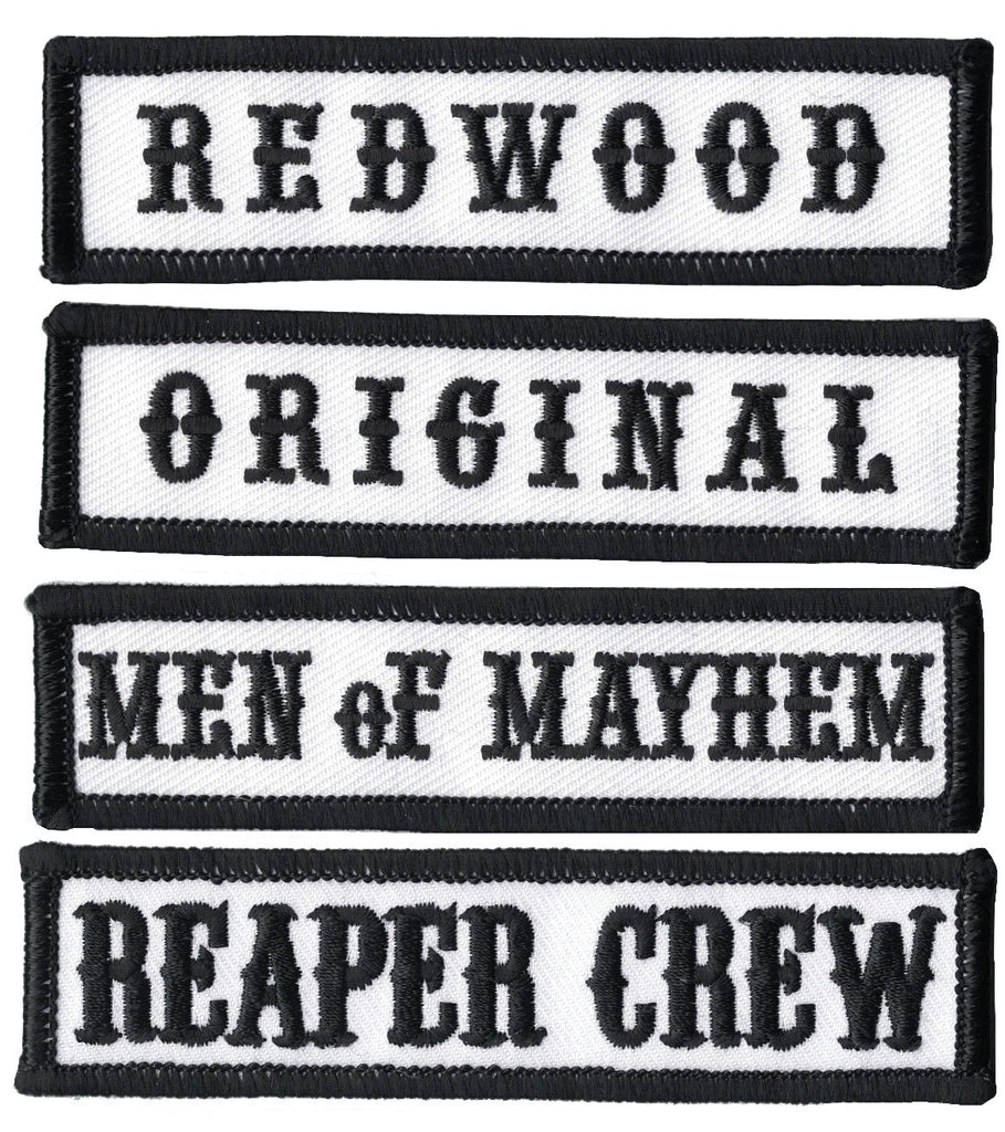 Biker Vest Patches >> Black Reaper Crew Sons of Anarchy Biker Vest Jacket Officer Title Patc – Titan One