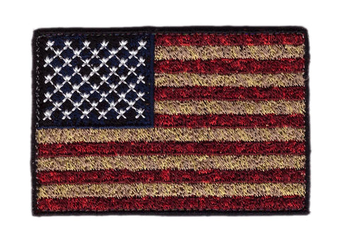 Distressed Vintage USA Flag Tactical Patch
