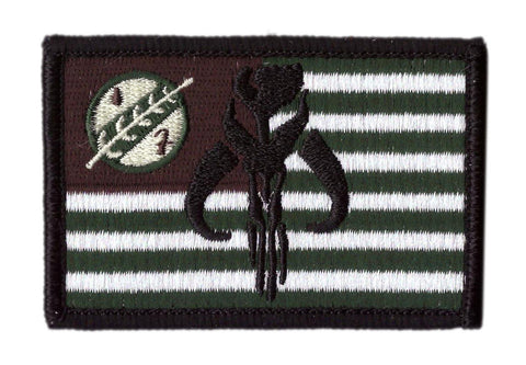 Boba Fett Bounty Hunter Flag Tactical Patch