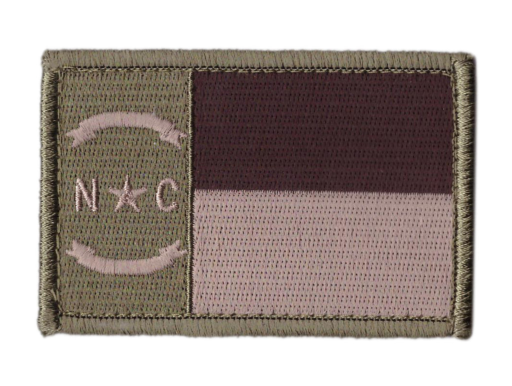 North Carolina Multicam Flag Tactical Patch