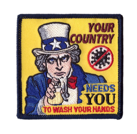 Wash Your Hands Uncle Sam Tactical Patch