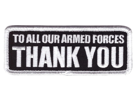 Velcro To Our Armed Forces THANK YOU Vet Tactical Patch - Titan One