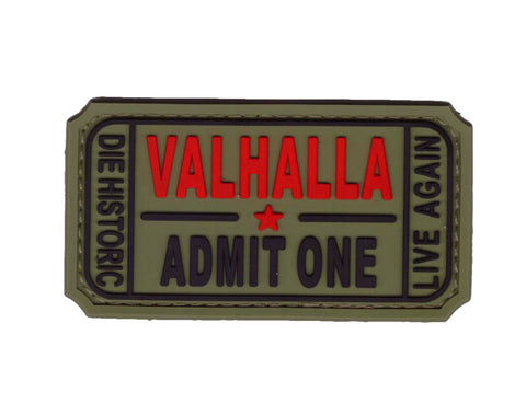 Camo Green Ticket to Valhalla Viking PVC Tactical Morale Patch