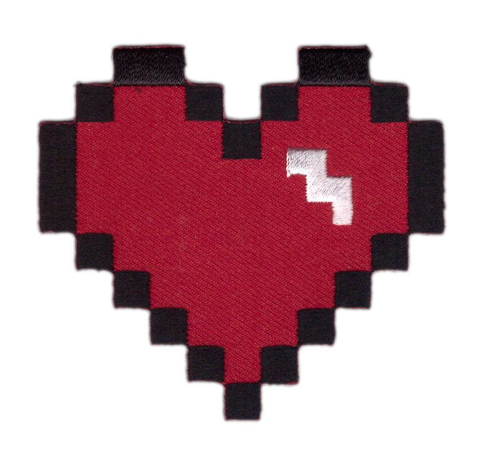 8 bit Red Heart Patch