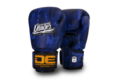 Boxing Gloves Danger DEFBG-003 Blue Army Edition