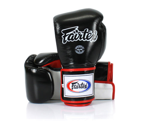 Boxing Gloves Fairtex BGV9 Mexican Style Black/White/Red