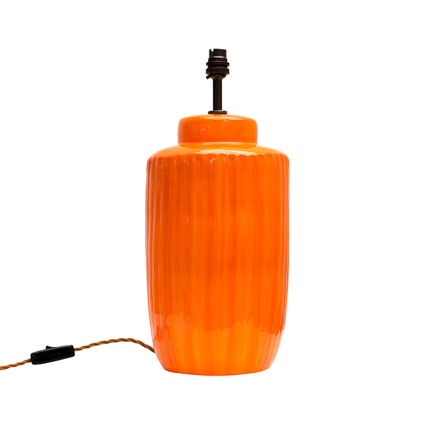 Strong Orange Ceramic Lamp Base