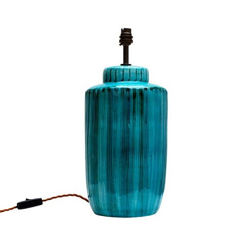 Acqua Green Ceramic Lamp Base BESPOKE COLOUR WAY MADE TO ORDER