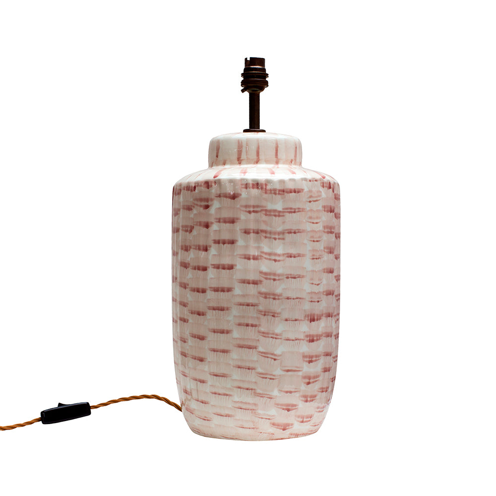 Bamboo Pink Ceramic Lamp Base