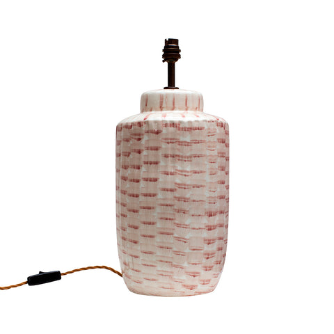 Bamboo Pink Ceramic Lamp Base MADE TO ORDER