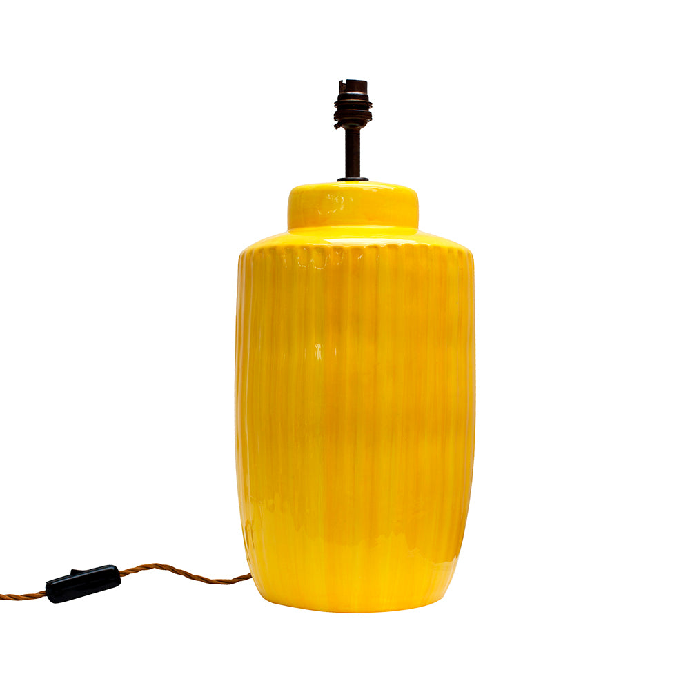 Naples Yellow Ceramic Lamp Base MADE TO ORDER