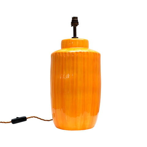 Soft Orange Ceramic Lamp Base BESPOKE COLOUR WAY MADE TO ORDER