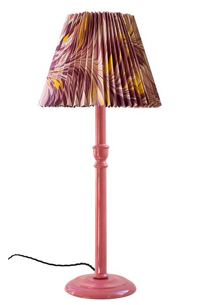 Tall Pomegranate Pink Glossy Lamp