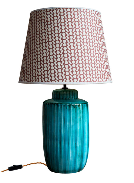 Acqua Green Bamboo Ceramic Lamp Base