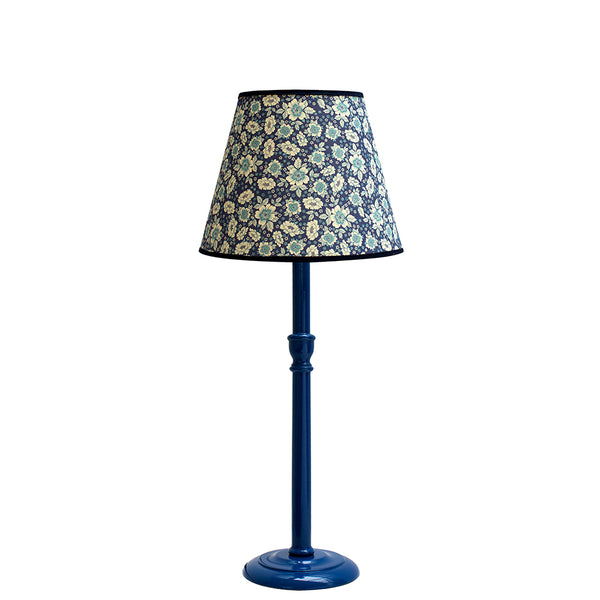 Tall Thistle Blue Glossy Lamp