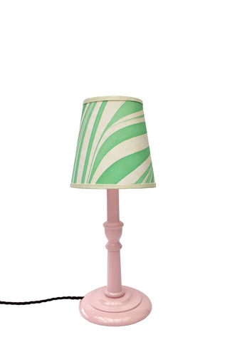 Small Sweet Pea Pink Glossy Lamp