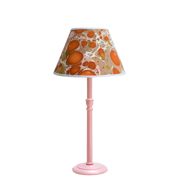 Tall Sweet Pea Pink Glossy Lamp