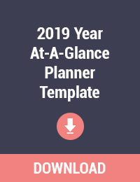 2019 Year At-A-Glance Planner Template Printable - Free PDF Download