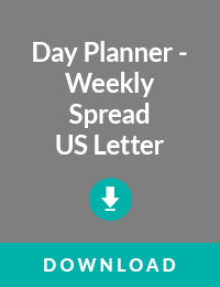 Day Planner Weekly Spread US Letter Size - Free PDF Download