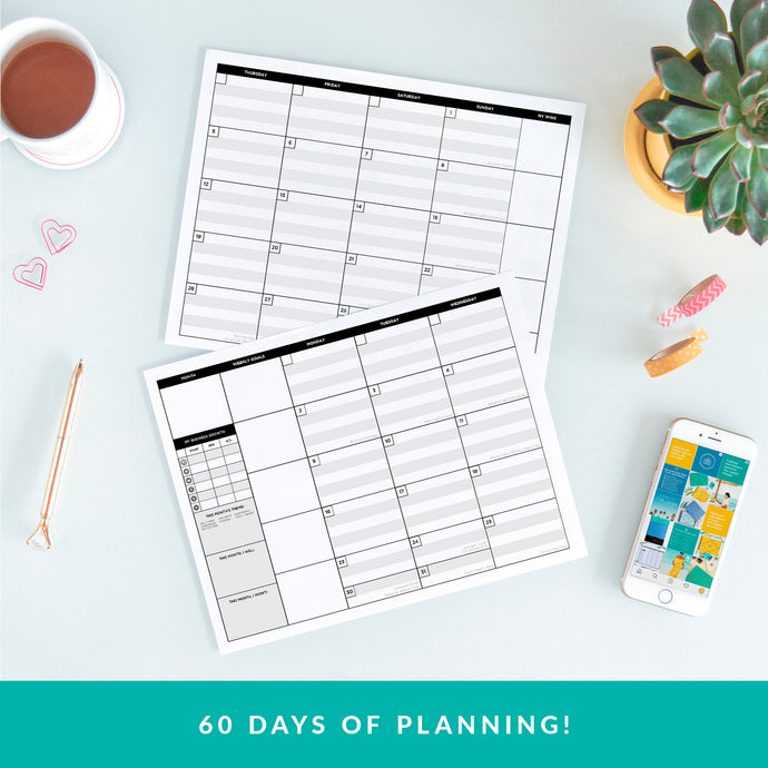 The Content Planner Printable - February/March 2020 - The Content Planner Blog & Social Media Marketing Tool