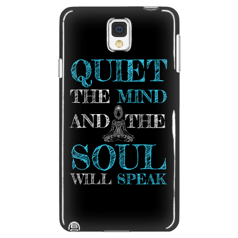 Quiet the Mind and the Soul Will Speak - Phone Case
