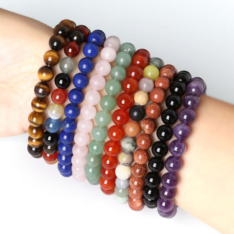 8MM Natural Stone Beads Bracelet