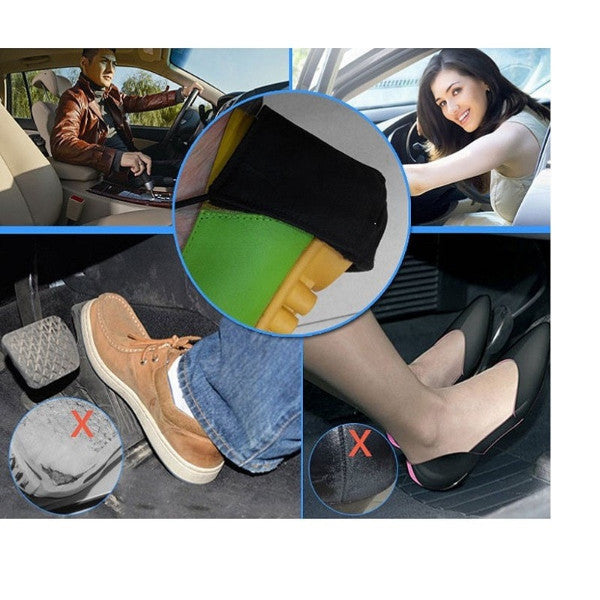 1pc Unisex Black Shoe-Heel Protector for Driving