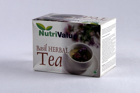 Nutrivalue 20 Sachets of Basil Herbal Tea
