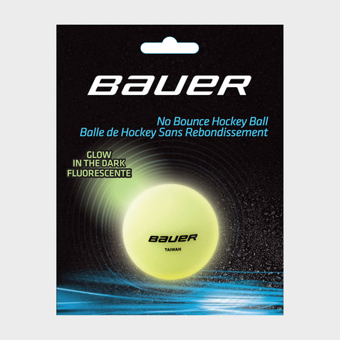 Bauer No Bounce Hockey Balls - Glow In The Dark