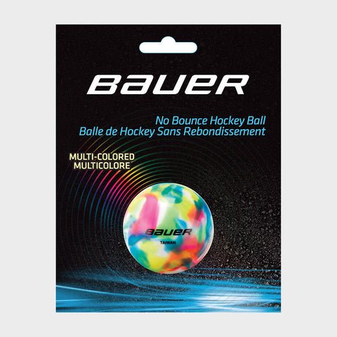 Bauer No Bounce Hockey Balls - Multi-colored