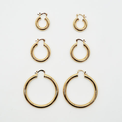 thick hoop 18k gold plated hoop earrings for women perfect gift for her quality closure and polished finish