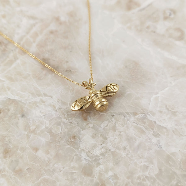 Dainty Gold Bumblebee Necklace