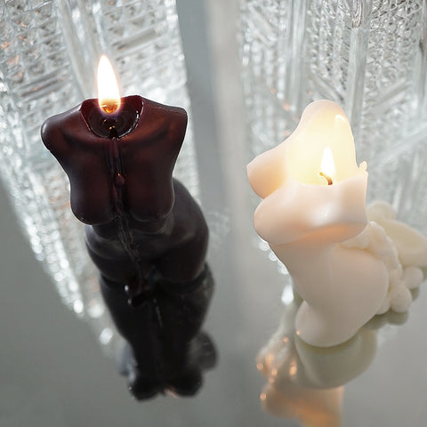 Our luxury naked torso candles will add elegance and femininity to your home. Available in either black or white.