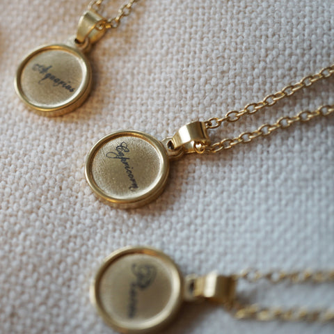 Our zodiac pendant necklace is a beautiful minimal everyday accessory.