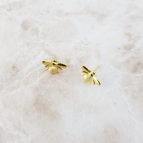 Gold Bumblebee earrings