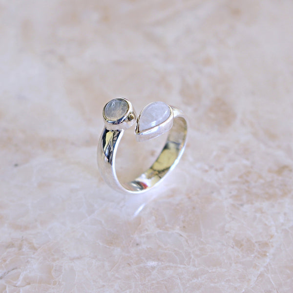 EDANA Moonstone Sterling Silver Ring