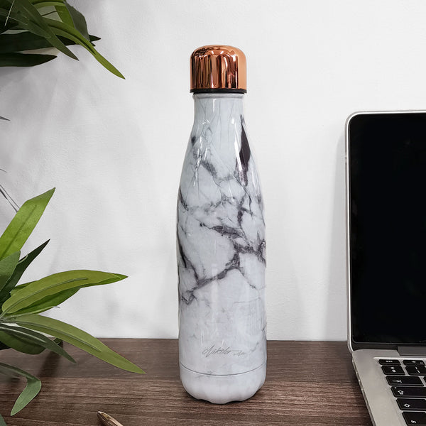 Marble Rose Gold Water Bottle