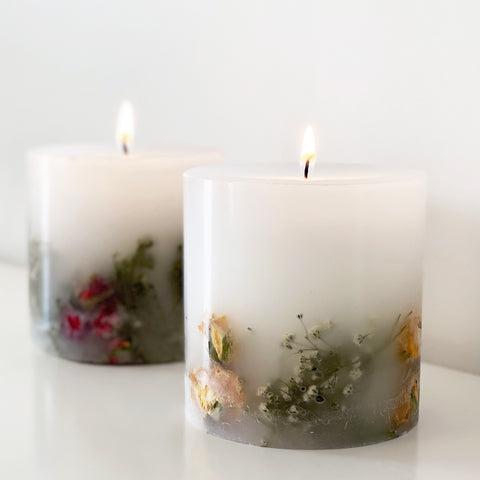 Our rose scented floral pillar candles will make the perfect mothers day gift, with a choice of yellow or red design.