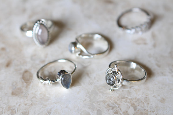 Sterling Silver Moonstone Rings