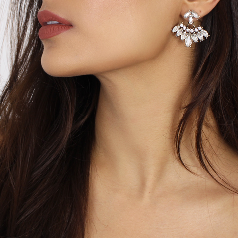 Rhinestone Jacket Statement Earrings