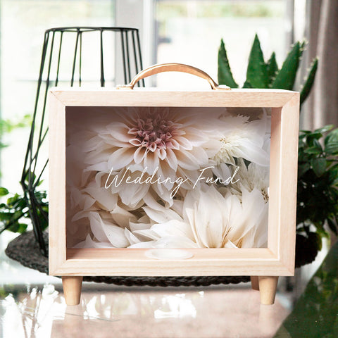 If your saving for your dream wedding or looking for the perfect engagement gift, then our wedding fund money box is the perfect choice.
