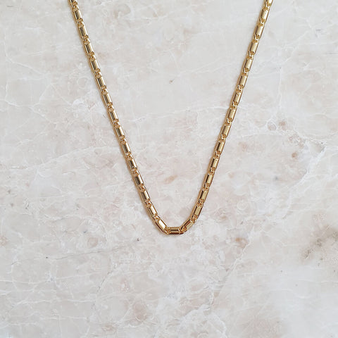 naya gold chain necklace 18k plated polished stainless steel base adjustable chain for women