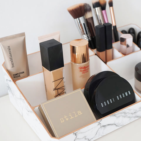 Our marble makeup organiser is perfect to store all your favourite cosmetics. Also makes a lovely gift for her.