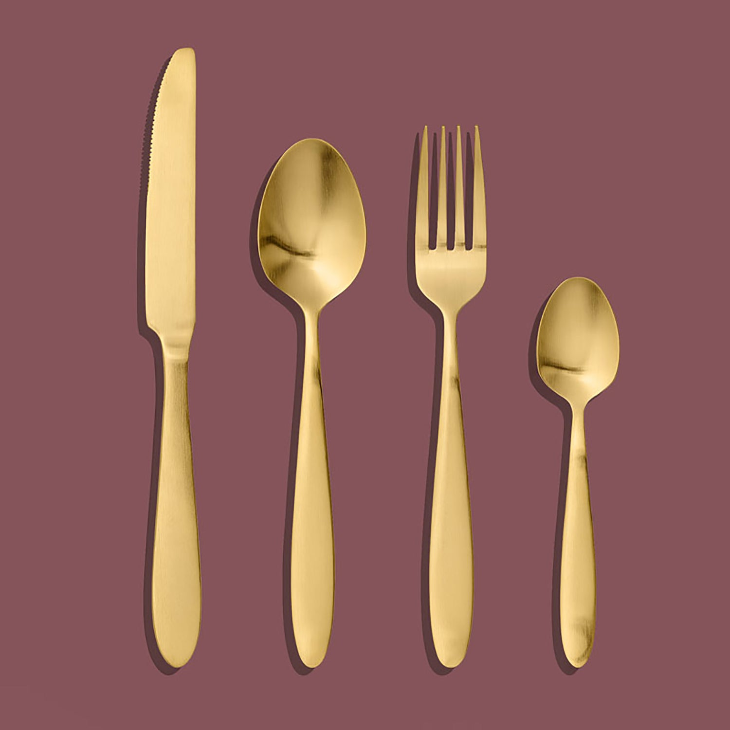 gold cutlery set 4 piece set four piece set elegant