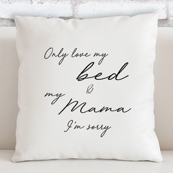 'Only Love My Bed' Drake Song Lyric Cushion