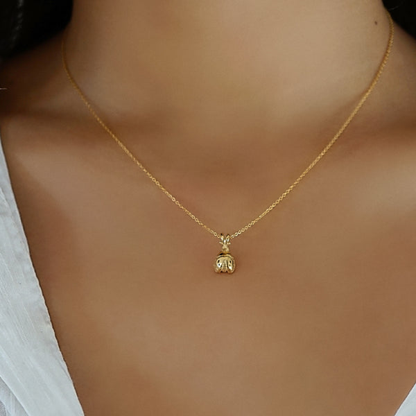 Gold 18K Ladybird Necklace