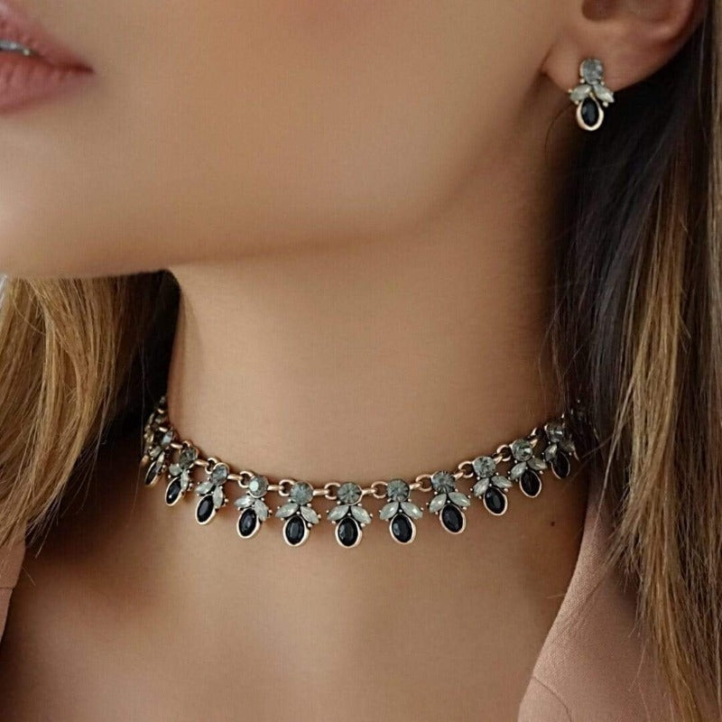 SKYLER Earring & Choker Statement Set